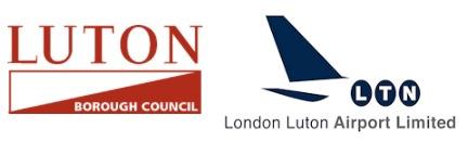 Logos of Luton Borough Council & London Luton Airport